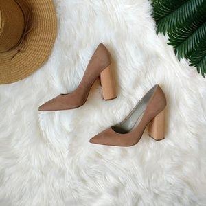 1. State Valencia Nude Block Heel Pump Size 9